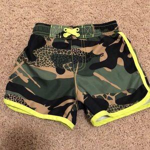 Toddler camo bathing suit, 2T